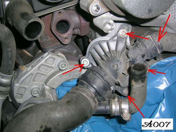 Sehr Thermostate am BMW 3er 320d M47 wechseln JK01